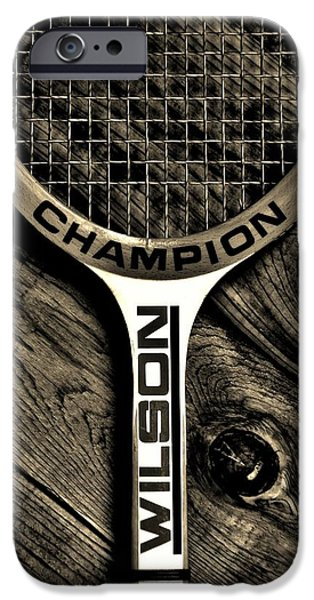 Racquet iPhone Cases - The Art of Tennis 2 iPhone Case by Benjamin Yeager