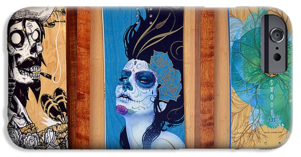 Skateboard iPhone Cases - The Art Of The Board iPhone Case by Fraida Gutovich