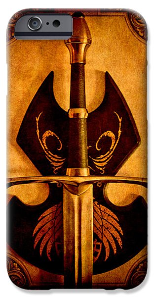 Jrr iPhone Cases - The Art of War - Eternal Portrait of a Warrior iPhone Case by Loriental Photography