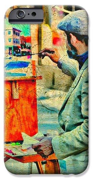 Painter Photographs iPhone Cases - The Artist iPhone Case by Diana Angstadt