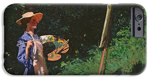 Straw iPhone Cases - The Artist iPhone Case by Karoly Ferenczy