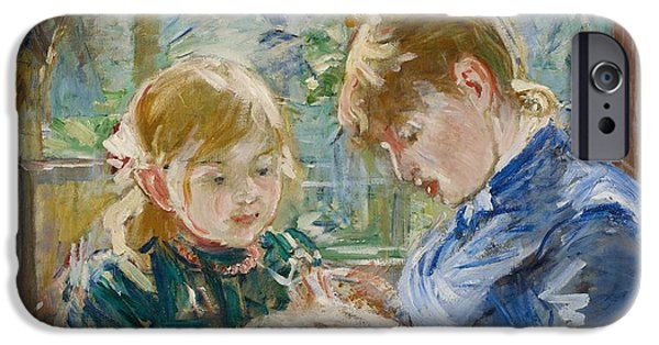 Bonding iPhone Cases - The Artists Daughter iPhone Case by Berthe Morisot
