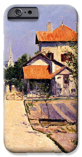 Home iPhone Cases - The Artists House at Yerres iPhone Case by Gustave Caillebotte