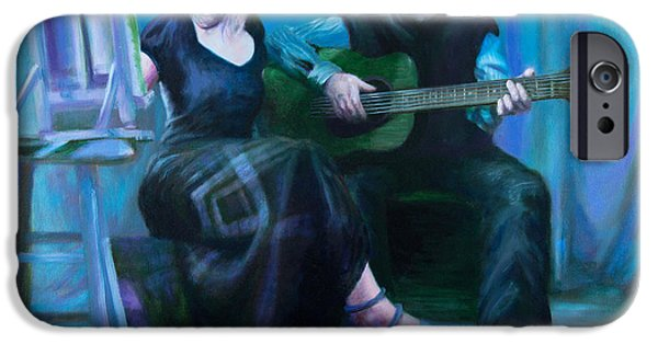 Archetype Paintings iPhone Cases - The Artists iPhone Case by Shelley  Irish