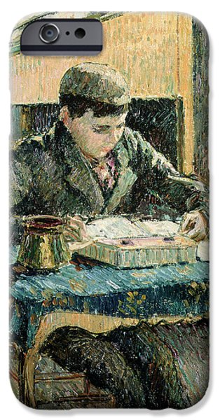 Working Artist iPhone Cases - The Artists Son iPhone Case by Camille Pissarro