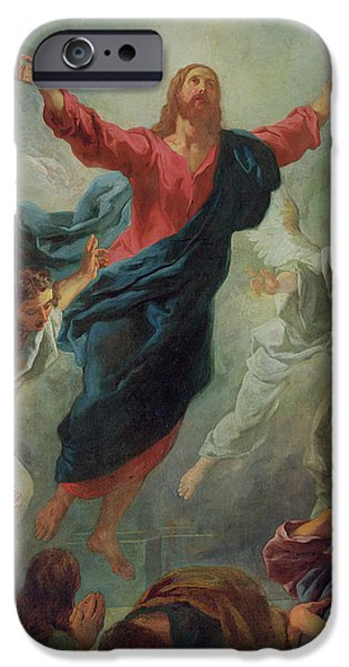 Soaring Paintings iPhone Cases - The Ascension iPhone Case by Jean Francois de Troy