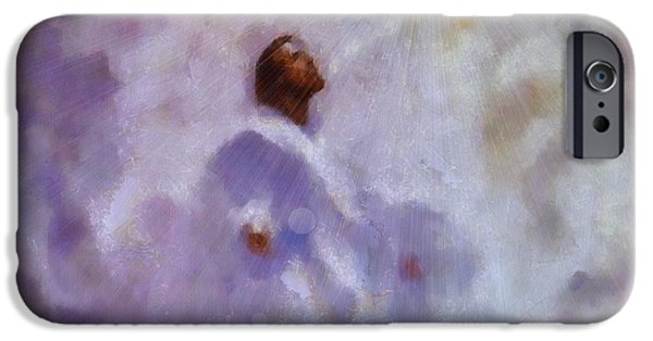 Baptism Paintings iPhone Cases - The Ascension of Jesus iPhone Case by Dan Sproul