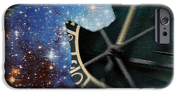 Czech Republic Digital Art iPhone Cases - The Astronomers Cat iPhone Case by Elizabeth McTaggart