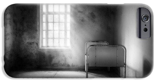 Asylum iPhone Cases - The Asylum Project - Empty Bed iPhone Case by Erik Brede