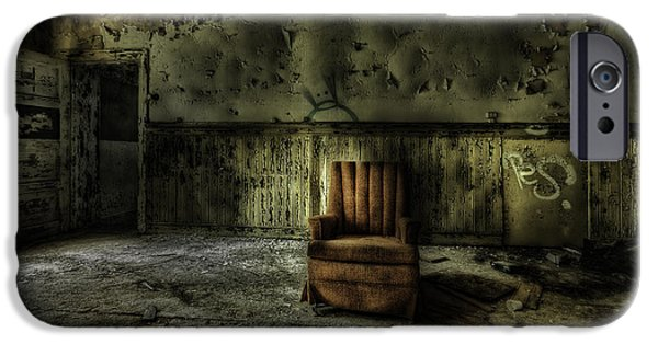 Dirty iPhone Cases - The Asylum Project - The Empty Chair iPhone Case by Erik Brede