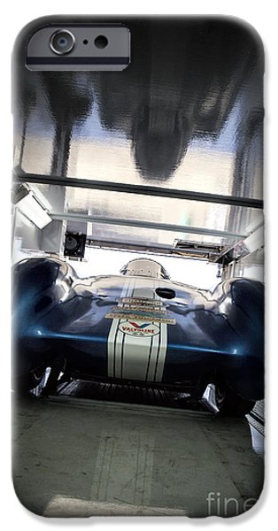 Dry Lake iPhone Cases - The ATTEMPT- Mickey Thompson- Metal and Speed iPhone Case by Holly Martin