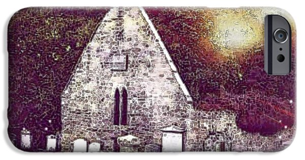 Goul iPhone Cases - The Auld Kirk Alloway Scotland iPhone Case by Janet Fraser Mckinlay