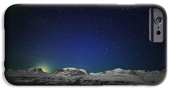Wintertime iPhone Cases - The Aurora Borealis Or Northern Lights iPhone Case by Panoramic Images