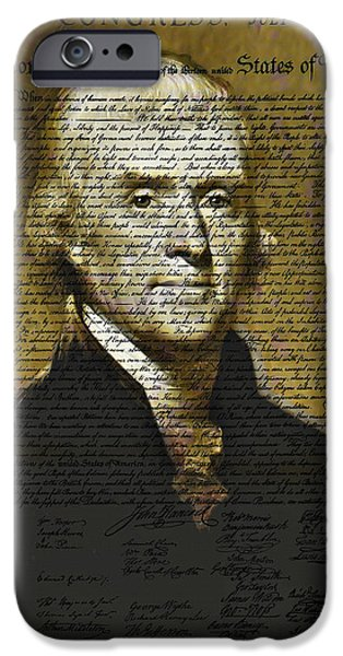 The Author of America iPhone Case by Bill Cannon