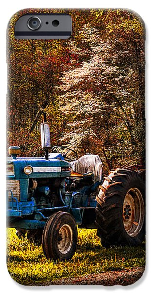 The Autumn Blues iPhone Case by Debra and Dave Vanderlaan