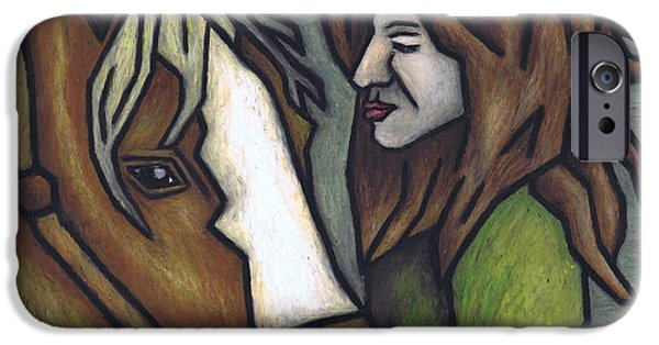 The Horse Pastels iPhone Cases - The Autumn Wind iPhone Case by Kamil Swiatek