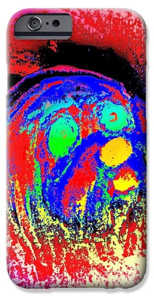 Component Paintings iPhone Cases - The Average Dog iPhone Case by Hilde Widerberg