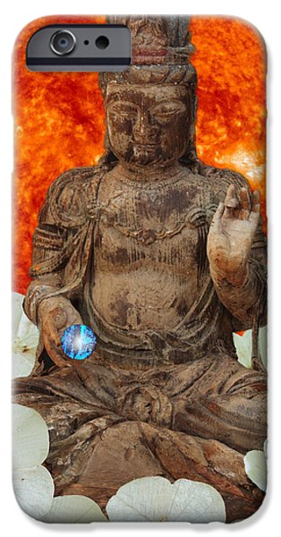 Tibetan Buddhism iPhone Cases - The Awakening  c2014 iPhone Case by Paul Ashby