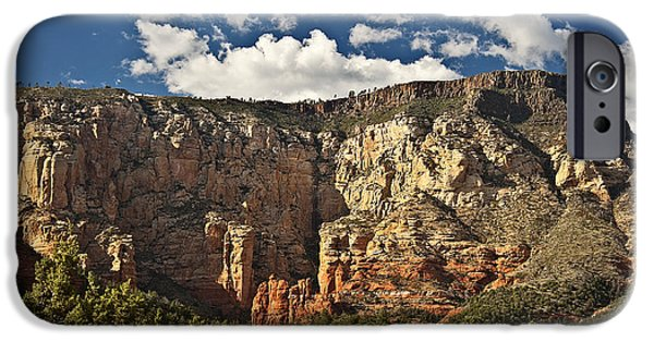 Oak Creek iPhone Cases - The Back Side of Sedona iPhone Case by Lee Craig