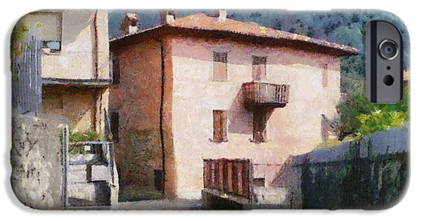 Balcony Digital Art iPhone Cases - The Back Street Towards Home iPhone Case by Jeff Kolker