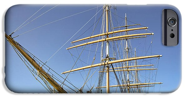 Tall Ship iPhone Cases - The BALCLUTHA Historic 3 Masted Schooner - San Francisco iPhone Case by Daniel Hagerman