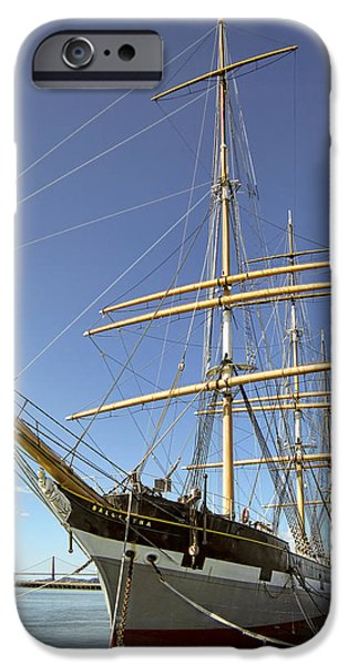 The BALCLUTHA Historic 3 Masted Schooner - San Francisco iPhone Case by Daniel Hagerman