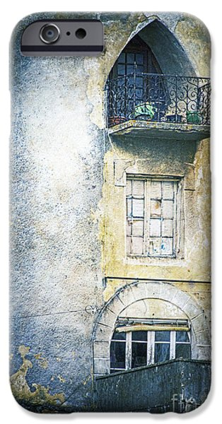 Eerie iPhone Cases - The Balcony Scene iPhone Case by Heiko Koehrer-Wagner
