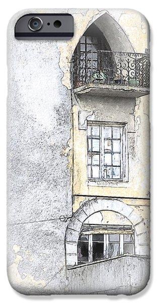Balcony iPhone Cases - The Balcony Scene II iPhone Case by Heiko Koehrer-Wagner
