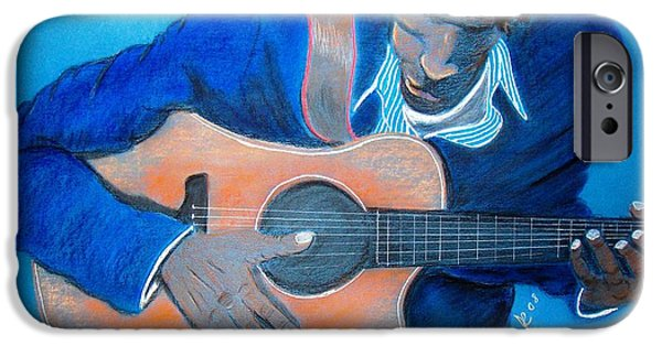 African-american Pastels iPhone Cases - The Balladeer iPhone Case by Charlie Black
