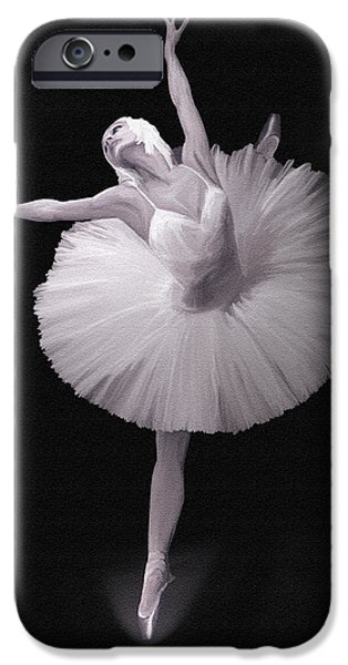 Ballet Dancers iPhone Cases - The Ballerina iPhone Case by Angela A Stanton