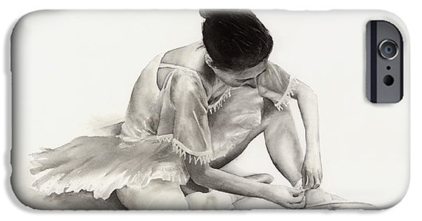 Ballet Dancers Paintings iPhone Cases - The Ballet Dancer iPhone Case by Hailey E Herrera