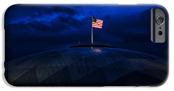 4th Of July iPhone Cases - The Banner Still Waves iPhone Case by Mary Jo Allen