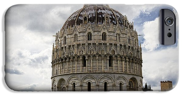 The Baptistry iPhone Cases - The Baptistry at Pisa iPhone Case by Jim Jones