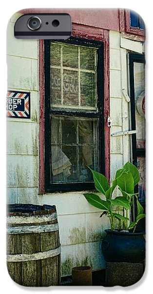 The Barber Shop from a different era iPhone Case by Paul Ward