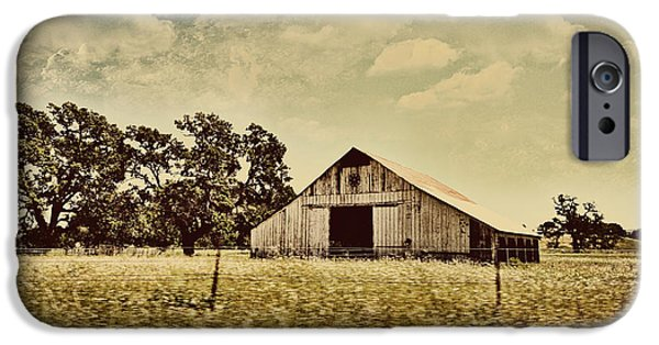Old Barns iPhone Cases - The Barn 2 iPhone Case by Cheryl Young