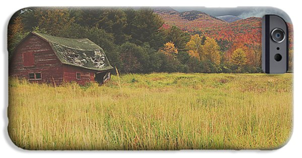 Farm iPhone Cases - The Barn iPhone Case by Carrie Ann Grippo-Pike
