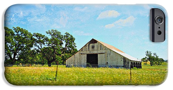 Old Barns iPhone Cases - The Barn iPhone Case by Cheryl Young
