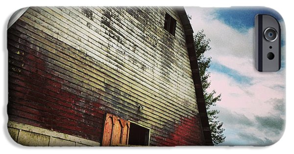 Barns Photographs iPhone Cases - The Barn iPhone Case by Jeff Klingler
