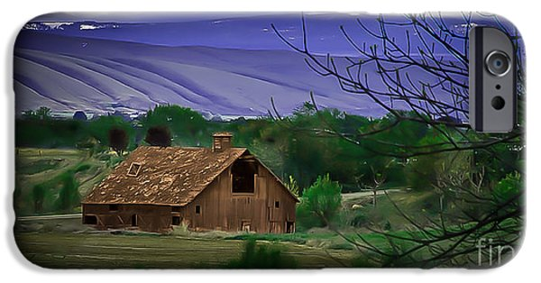 Yakima Valley iPhone Cases - The Barn iPhone Case by Robert Bales
