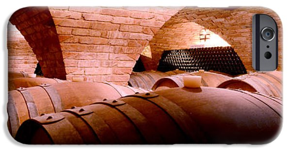 Wine Bottles iPhone Cases - The Barrel Room iPhone Case by Jon Neidert