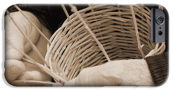 Recently Sold -  - Basket iPhone Cases - The Basket Weaver iPhone Case by Marcia Socolik