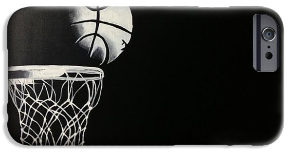Basket Ball Paintings iPhone Cases - The Basketball iPhone Case by Sanjay Thamake