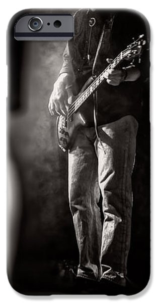 Bassist iPhone Cases - The Bassist iPhone Case by Bob Orsillo
