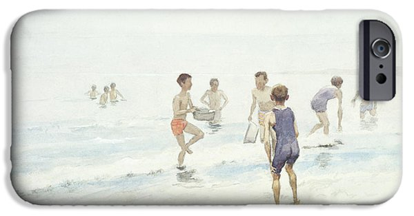 Basin iPhone Cases - The Bathers iPhone Case by Edward van Goethem