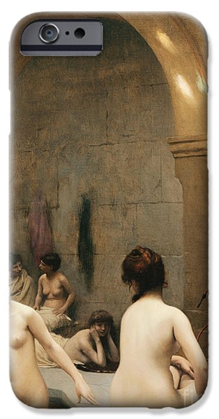 Young Adult iPhone Cases - The Bathers iPhone Case by Jean Leon Gerome