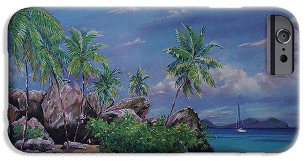 Ocean Pastels iPhone Cases - The Baths at Virgin Gorda   15x23 iPhone Case by John Clark