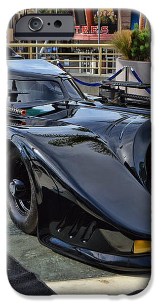 The Batmobile iPhone Case by Tommy Anderson