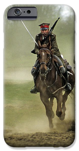 The Battle iPhone Case by Angel  Tarantella