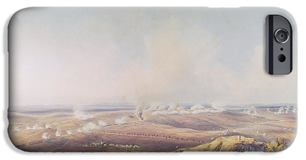 Morning iPhone Cases - The Battle Of Austerlitz, 2nd December 1805, Ten Oclock, 1835 Wc On Paper iPhone Case by Jean Antoine Simeon Fort