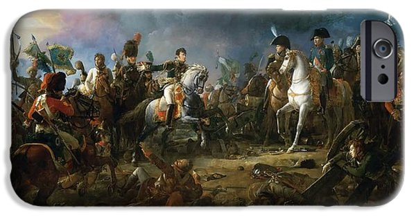 The Horse iPhone Cases - The Battle of Austerlitz iPhone Case by Baron Francois Gerard
